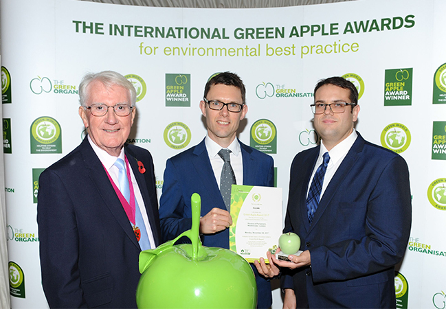 CLEAN scoops Green Apple Award - News - CLEAN Services