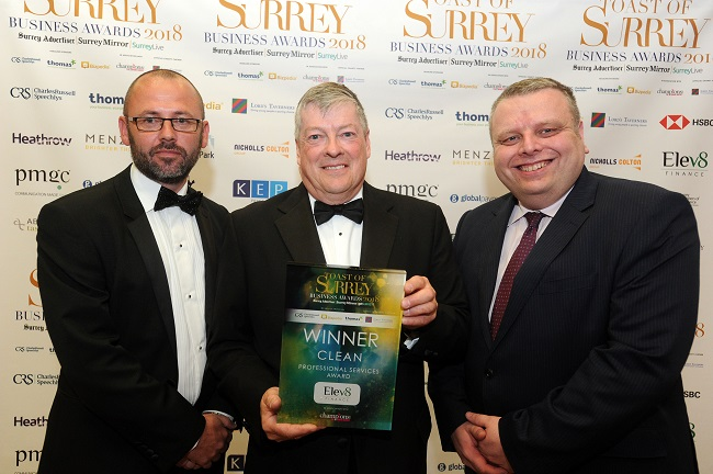 CLEAN scoops Toast of Surrey 'Professional Services' title - News - CLEAN Services