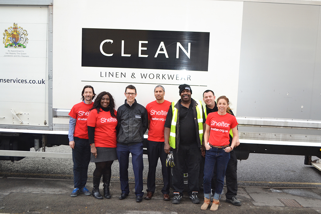 CLEAN donates hotel linen to Shelter - News - CLEAN Services