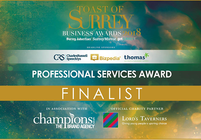 CLEAN shortlisted alongside Surrey's business elite - News - CLEAN Services