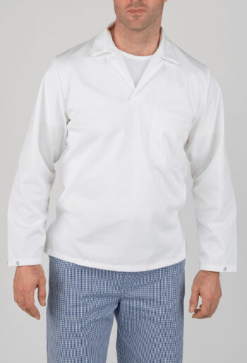 Long Sleeve Bakers Top - Workwear Garments - CLEAN Services
