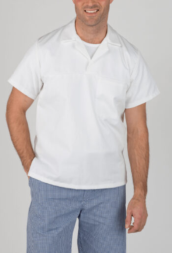 Short Sleeve Bakers Top - Workwear Garments - CLEAN Services