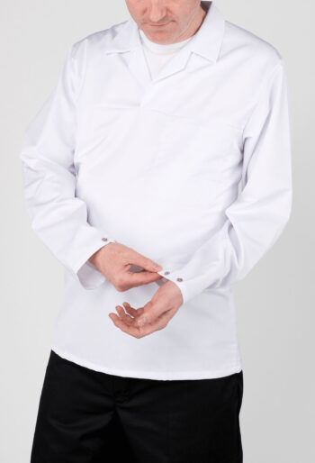 Heavy Weight Long Sleeve Bakers Top - Workwear Garments - CLEAN Services
