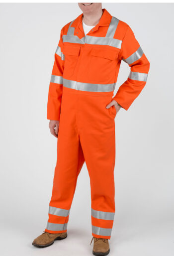 Flame Retardant Boilersuit with Reflective Tape - Workwear Garments - CLEAN Services