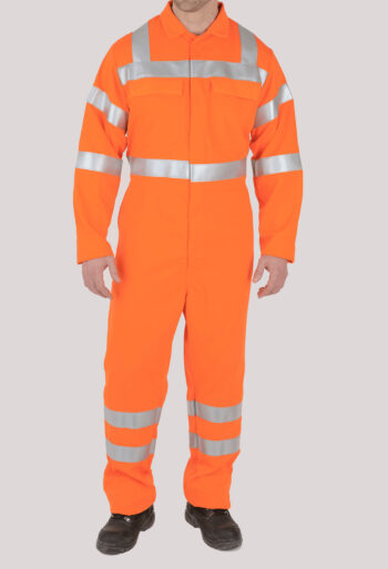 Flame Retardant RIS Compliant Hi-Vis Boilersuit - Workwear Garments - CLEAN Services