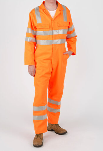 High Visibility RIS Compliant Boilersuit - Workwear Garments - CLEAN Services