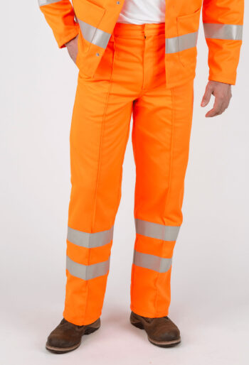High Visibility RIS Compliant Trousers - Workwear Garments - CLEAN Services