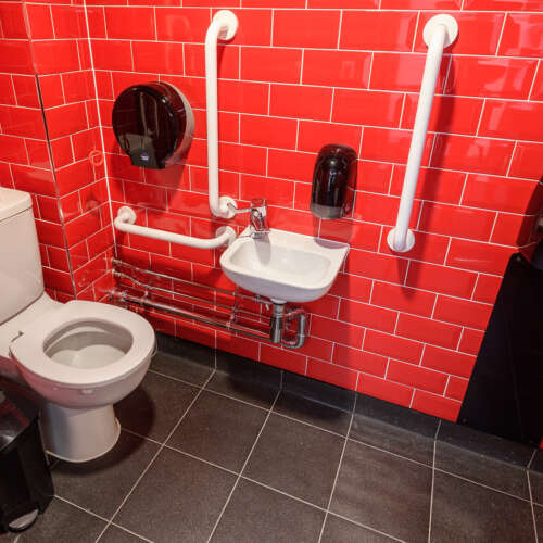 General washroom supplies such as toilet tissues, soap and more delivered at an agreed and regular frequency